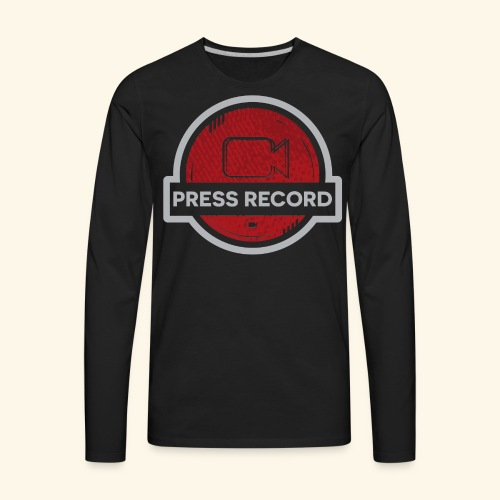 Press Record Button - Men's Premium Long Sleeve T-Shirt