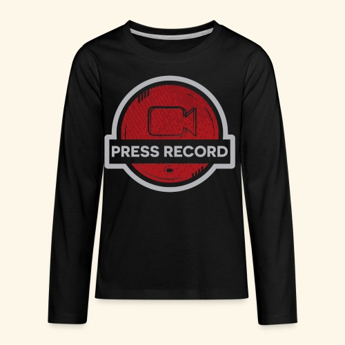 Press Record Button - Kids' Premium Long Sleeve T-Shirt