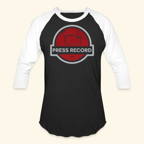 Press Record Button - Baseball T-Shirt