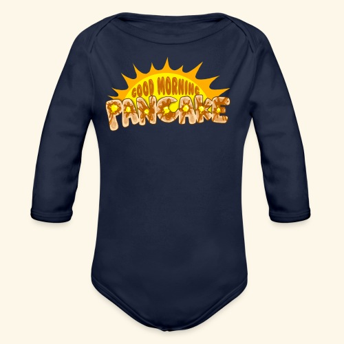 Goodmorning Pancake 2 Kids - Organic Long Sleeve Baby Bodysuit