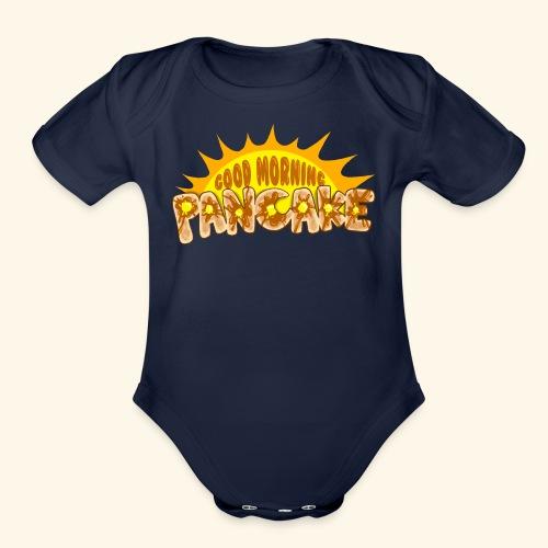 Goodmorning Pancake 2 Kids - Organic Short Sleeve Baby Bodysuit