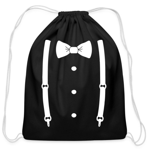 Bow tie for the cool guy - Cotton Drawstring Bag