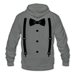 Bow tie for the cool guy - Unisex Fleece Zip Hoodie by American Apparel
