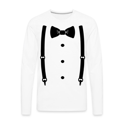 Bow tie for the cool guy - Men's Premium Long Sleeve T-Shirt