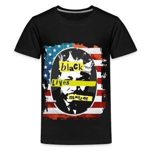 MEN'S BLACK LIVE MATTERS MARTIN LUTHER KING T-SHIRT - Kids' Premium T-Shirt
