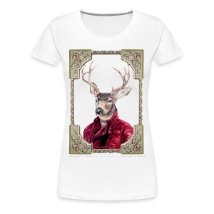 Deer Portrait - Women's Premium T-Shirt