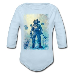 Deep Sea  - Long Sleeve Baby Bodysuit