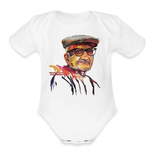 Nerd Old Man - Short Sleeve Baby Bodysuit