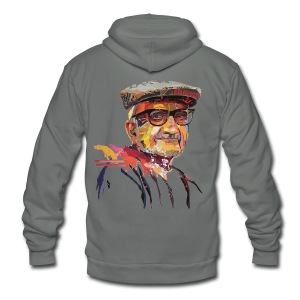Nerd Old Man - Unisex Fleece Zip Hoodie by American Apparel