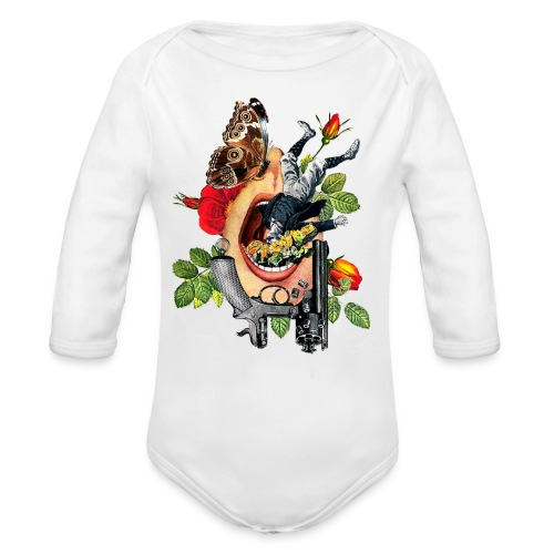 Open Mouth Art - Organic Long Sleeve Baby Bodysuit