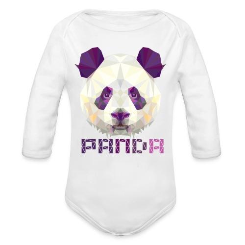 Violet Panda - Organic Long Sleeve Baby Bodysuit