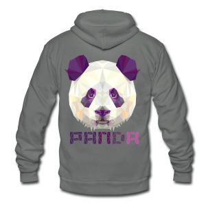 Violet Panda - Unisex Fleece Zip Hoodie by American Apparel