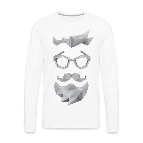 Nerd X SwagTheBeard - Men's Premium Long Sleeve T-Shirt