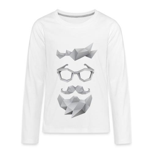 Nerd X SwagTheBeard - Kids' Premium Long Sleeve T-Shirt