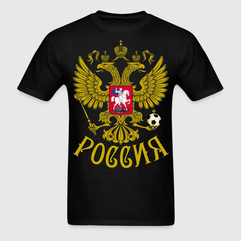 Gerb Rossii Coat of Arms of Russia Eagle футб - Men's T-Shirt