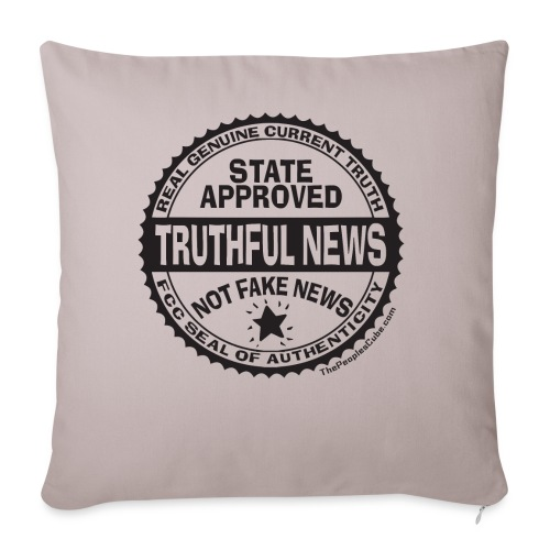 Truthful News FCC Seal - Throw Pillow Cover