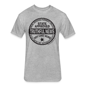 Truthful News FCC Seal - Fitted Cotton/Poly T-Shirt by Next Level