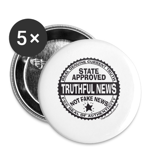 Truthful News FCC Seal - Large Buttons