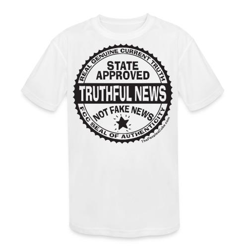 Truthful News FCC Seal - Kids' Moisture Wicking Performance T-Shirt