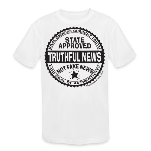 Truthful News FCC Seal - Kids' Moisture Wicking Performance T-Shirt