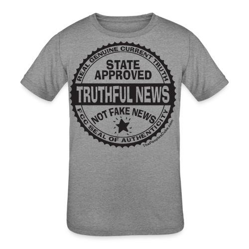 Truthful News FCC Seal - Kids' Tri-Blend T-Shirt