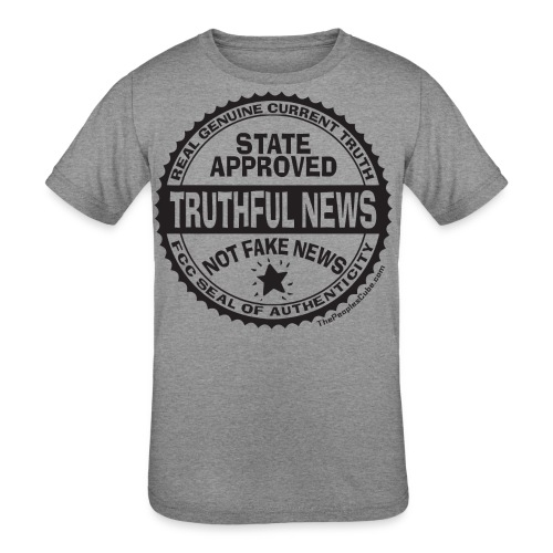 Truthful News FCC Seal - Kids' Tri-Blend T-Shirt