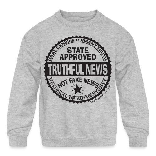 Truthful News FCC Seal - Kids' Crewneck Sweatshirt