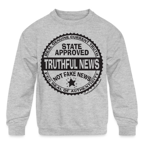 Truthful News FCC Seal - Kids' Crewneck Sweatshirt