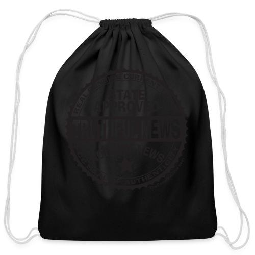 Truthful News FCC Seal - Cotton Drawstring Bag