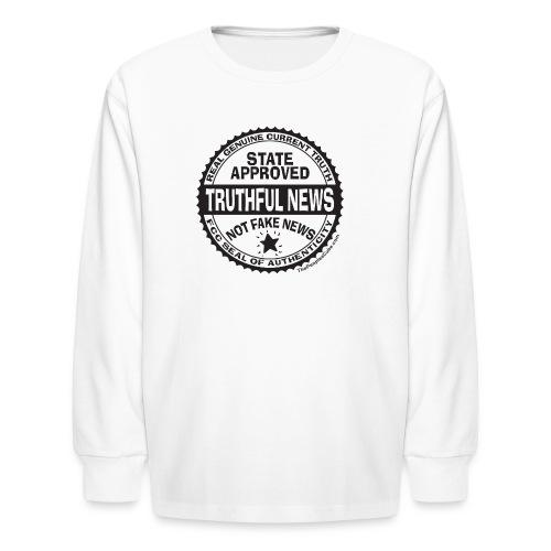 Truthful News FCC Seal - Kids' Long Sleeve T-Shirt