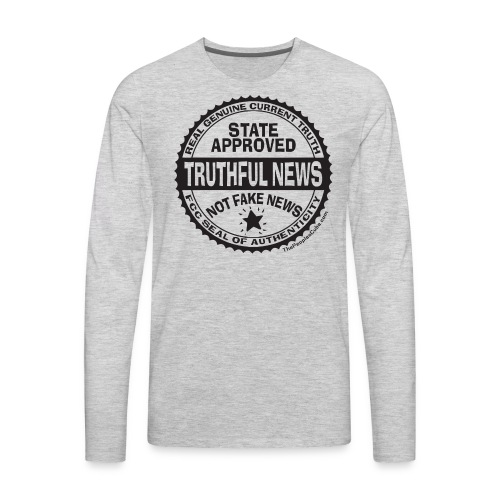 Truthful News FCC Seal - Men's Premium Long Sleeve T-Shirt