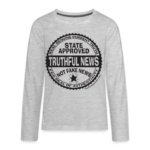 Truthful News FCC Seal - Kids' Premium Long Sleeve T-Shirt