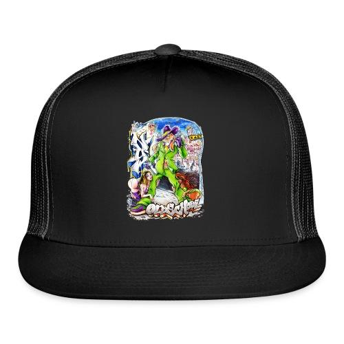 HOPS - Design for New York Graffiti Color Logo - Trucker Cap