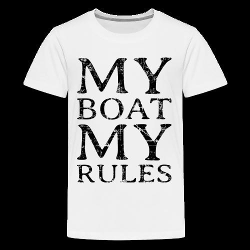 My Boat my Rules Vintage Black