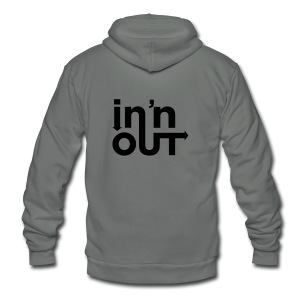 In and Out Snap Back - Unisex Fleece Zip Hoodie by American Apparel