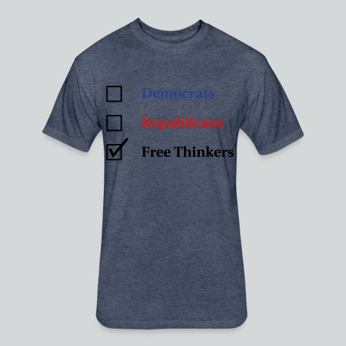 Election Ballot - Free Thinkers - Fitted Cotton/Poly T-Shirt by Next Level