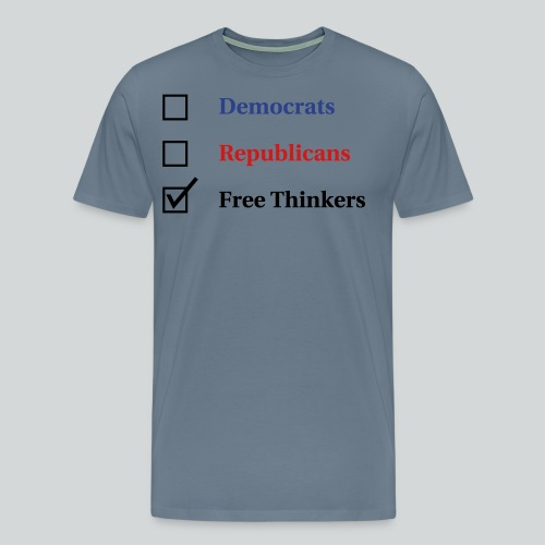 Election Ballot - Free Thinkers - Men's Premium T-Shirt