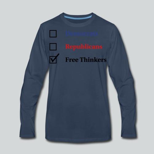 Election Ballot - Free Thinkers - Men's Premium Long Sleeve T-Shirt