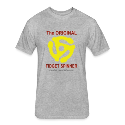 Original Fidget Spinner-Red Lettering - Fitted Cotton/Poly T-Shirt by Next Level