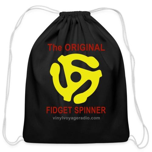 Original Fidget Spinner-Red Lettering - Cotton Drawstring Bag