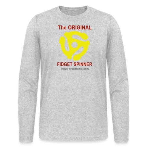 Original Fidget Spinner-Red Lettering - Men's Long Sleeve T-Shirt by Next Level
