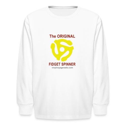 Original Fidget Spinner-Red Lettering - Kids' Long Sleeve T-Shirt