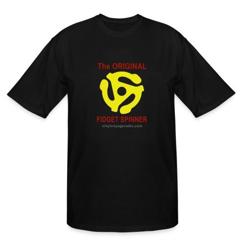 Original Fidget Spinner-Red Lettering - Men's Tall T-Shirt