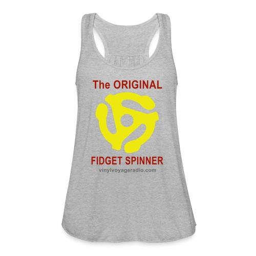 Original Fidget Spinner-Red Lettering - Women's Flowy Tank Top by Bella