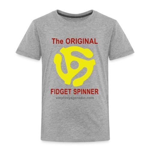 Original Fidget Spinner-Red Lettering - Toddler Premium T-Shirt