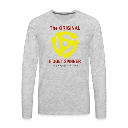 Original Fidget Spinner-Red Lettering - Men's Premium Long Sleeve T-Shirt