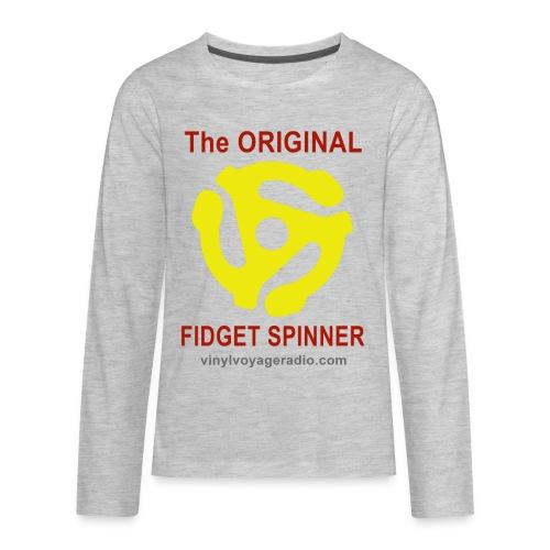 Original Fidget Spinner-Red Lettering - Kids' Premium Long Sleeve T-Shirt