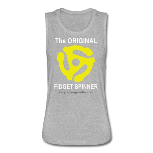 Original Fidget Spinner-White Lettering - Women's Flowy Muscle Tank by Bella
