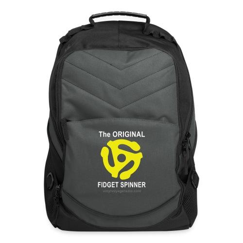 Original Fidget Spinner-White Lettering - Computer Backpack