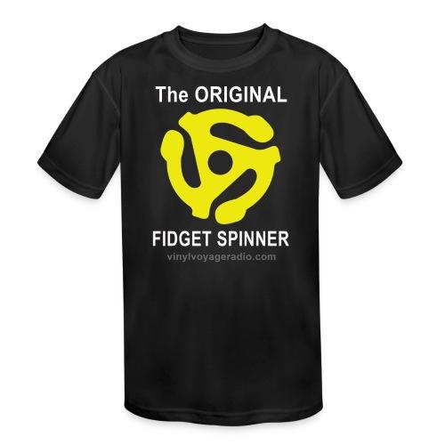 Original Fidget Spinner-White Lettering - Kids' Moisture Wicking Performance T-Shirt